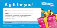 hospital bassinet hire gift idea