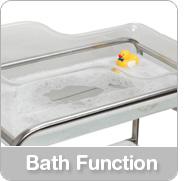 hospital bassinet bath function