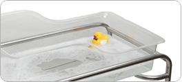 hospital bassinet bath