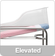 hospital bassinet elevated function