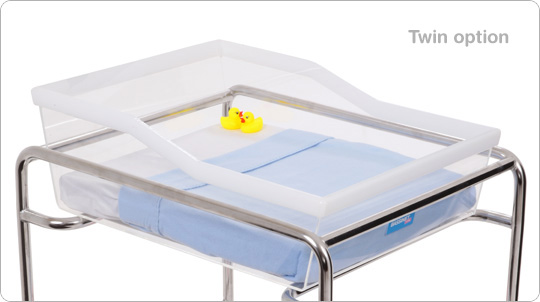 hospital bassinet twin option
